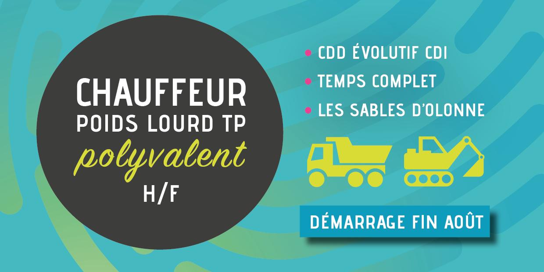 offre emploi chauffeur poids lourd polyvalent du Groupement d'Employeurs Vendée Littorale