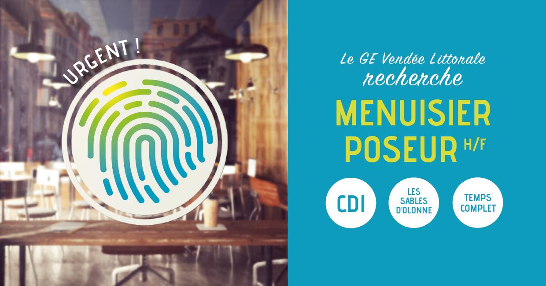 Offre d'emploi de Menuisier Poseur aux Sables d'Olonne du Groupement d'Employeurs Vendée Littorale