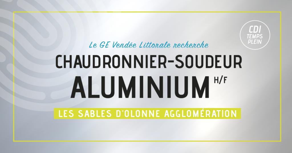 Offre d'emploi de chaudronnier soudeur aluminium homme femme du Groupement d'Employeurs Vendée Littorale
