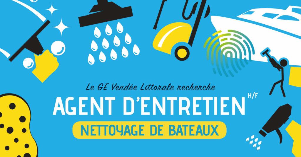 Offre d'emploi nettoyage de bateaux Homme Femme du GE Vendée Littorale aux Sables d'Olonne
