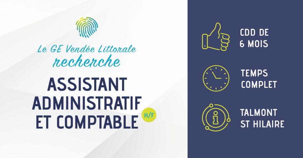 Offre d'emploi Assistant comptable administratif à Talmont Saint Hilaire du GE Vendée Littorale