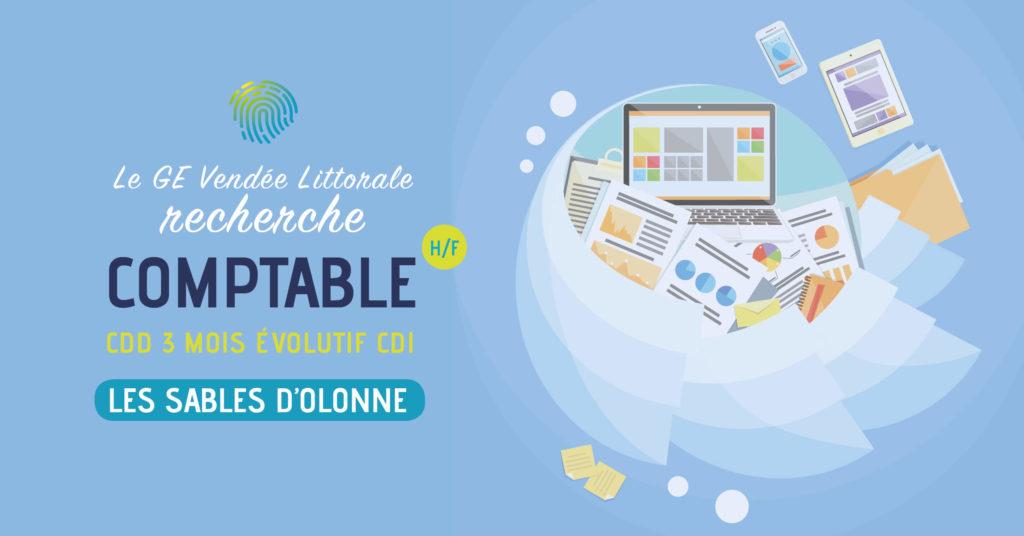 Offre d'emploi Comptable Homme Femme aux Sables d'Olonne du GE Vendée Littorale
